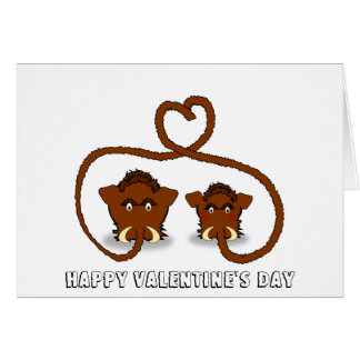 Carte de Saint-Valentin de mammouth laineux