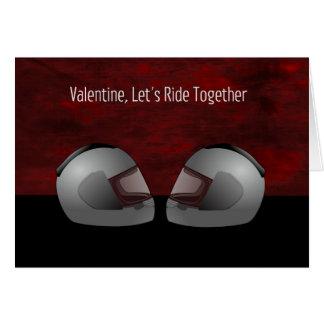 Carte de Saint-Valentin de moto