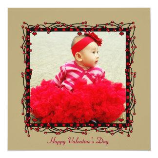 Carte de Saint-Valentin de photo de coeurs et de Invitations