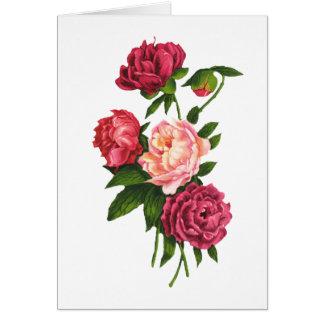 Carte de Saint-Valentin de roses (gros caractères)