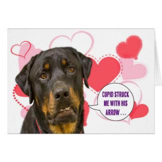 Carte de Saint-Valentin de rottweiler