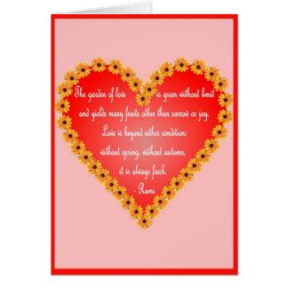 Carte de Saint-Valentin de Rumi