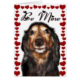 Carte de Saint-Valentin de teckel