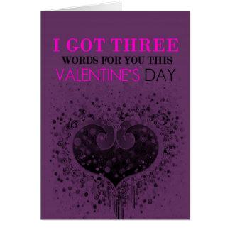 Carte de Saint-Valentin de trois mots
