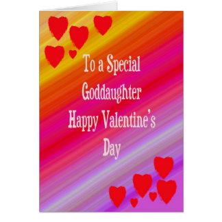 Carte de Saint-Valentin pour la filleule