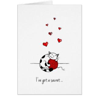 Carte de Saint-Valentin pour l'amour secret - chat