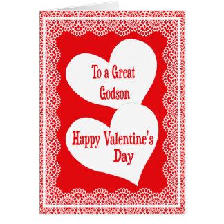 Carte de Saint-Valentin pour le filleul