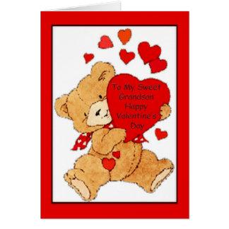 Carte de Saint-Valentin pour le petit-fils