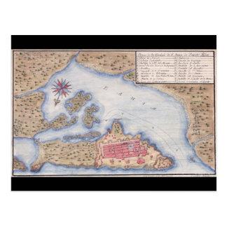 Carte de San Juan Porto Rico à partir de 1770