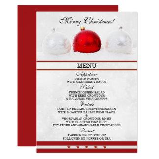 Carte de scintillement élégante de menu de Noël