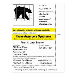 Carte de secours d'Aspergers Cartes Postales