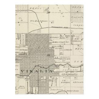 Carte de section de commutateur 1/4 Tulare County