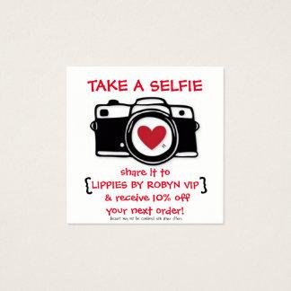 Carte de Selfie de remise - carte photo - remises