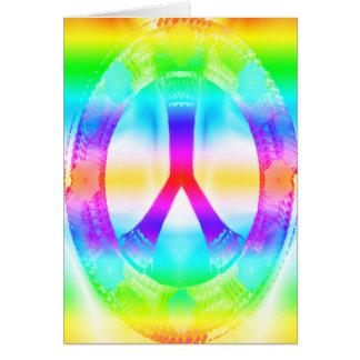 Carte de signe de paix