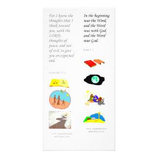Carte de signet de bible de KJV au début - Cartes Avec Photo