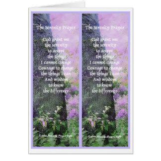 Carte de signets de prière de sérénité
