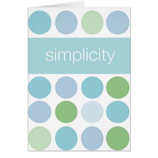 Carte de simplicité