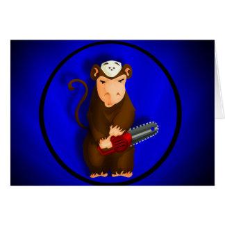 Carte de singe de tronçonneuse