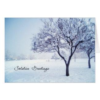 Carte de solstice d'hiver
