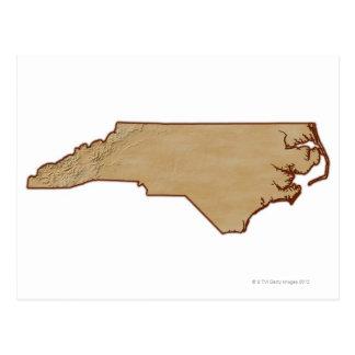 Carte de soulagement de la Caroline du Nord