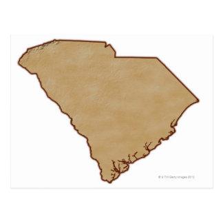 Carte de soulagement de la Caroline du Sud