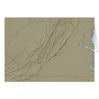 Carte de soulagement de la Virginie 2