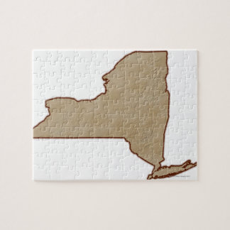 Carte de soulagement de l'état de New-York Puzzle