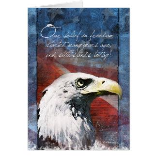 Carte de soutien de troupe d'Eagle chauve une