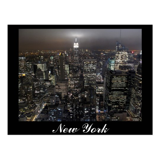 carte de souvenir de new york de paysage urbain de. Black Bedroom Furniture Sets. Home Design Ideas