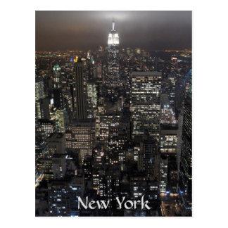 Carte de souvenir de New York de paysage urbain de