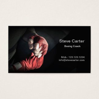 Carte de sport d'anneau de boxeur de gants