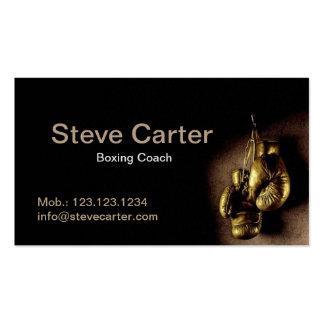 Carte de sport d'anneau professionnel de gants carte de visite standard