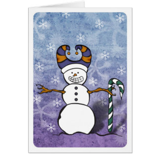 Carte de sucre de canne de bonhomme de neige