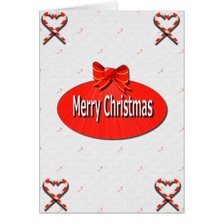 Carte de sucre de canne de Joyeux Noël