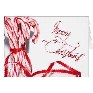Carte de sucres de canne de Joyeux Noël