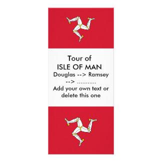 Carte de support avec le drapeau d'île de Man, R-U