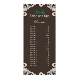carte de support de brochure de service de salon doubles cartes
