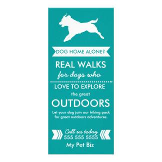 Carte Publicitaire Carte de support de marcheur de chien -