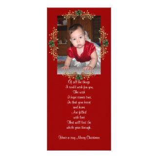 Carte de support de photo de Noël