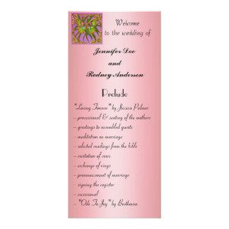 Carte de support de programme de mariage de