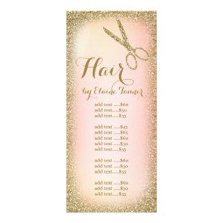Carte de support de salon de coiffure de
