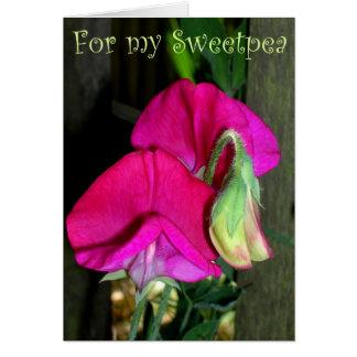 Carte de sweetpea d'amants