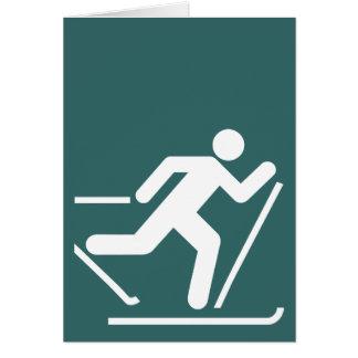 Carte de symbole de ski de pays croisé
