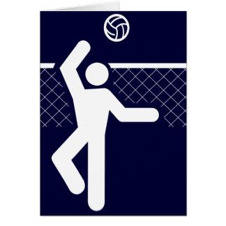 Carte de symbole de volleyball