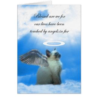 Carte de sympathie de chat, ange Kitty, perte de