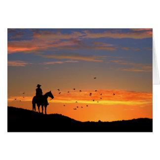 Carte de sympathie de cheval de cowboy