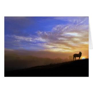 Carte de sympathie de cheval et de coucher du