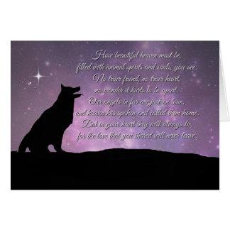 Carte de sympathie de chien avec le poème