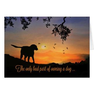 Carte de sympathie de chien, condoléances pour la