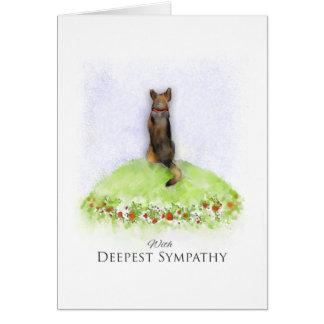 Carte de sympathie de chien de berger allemand